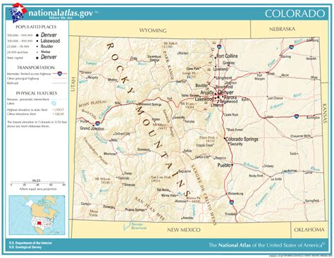 geographical map of colorado united states geography for colorado