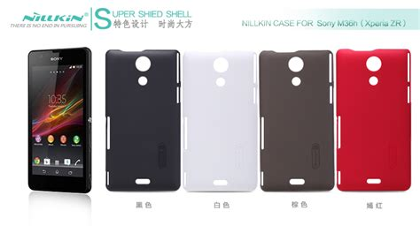 Frosted Zr Hardcase Nilkin Shield Sony Xperia M36h Original nillkin frosted shield w screen protector