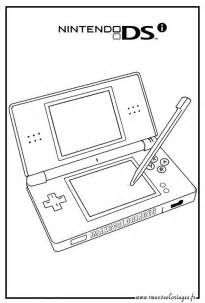 Nintendo Ds Coloring Pages Sketch Page sketch template