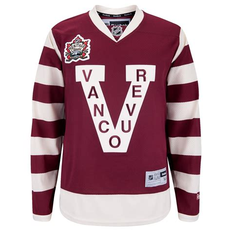 heritage uniforms and jerseys vancouver canucks 2014 nhl heritage classic premier