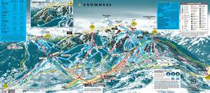 map of snowmass colorado snowmass mountain colorado ski areas