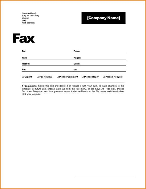 microsoft office templatesfree fax cover sheet