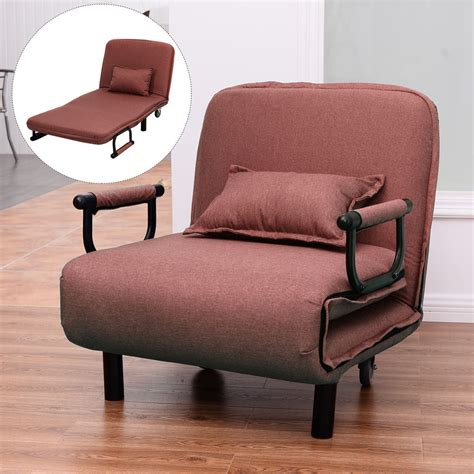 Convertible Ottoman Chair Sofa Bed Folding Arm Chair 29 5 Quot Width Convertible Sleeper Recliner Lounge New Ebay