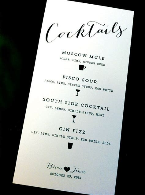 cocktail menus best 25 cocktail menu ideas on
