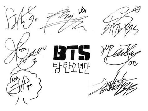 bts signature wallpaper transparent signatures tumblr