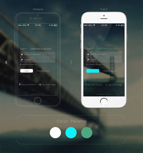 ui layout options mobile login ui design options on behance