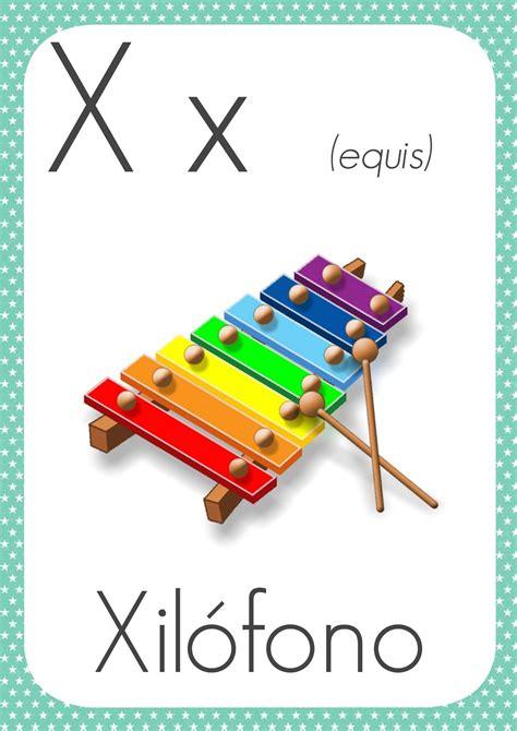 imagenes en ingles con x abecedario para la pared del aula aula de elena
