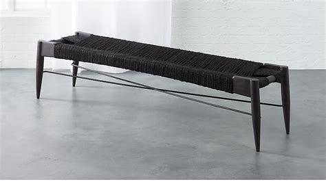 wrap bench wrap large black bench cb2