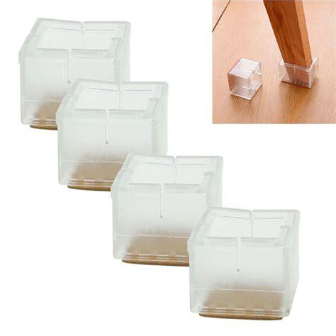 1 inch square chair leg floor protector high quality 4pcs square chair leg caps rubber