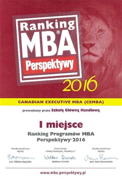 Canadian Executive Mba by Cemba Canadian Executive Mba
