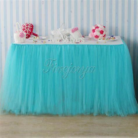 Diy Tutu Table Skirt Decor by Turquoise Tulle Tutu Table Skirt For Wedding Decoration