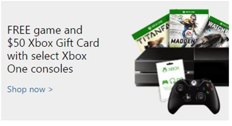 microsoft store canada deal buy an xbox one and get a free game and free xbox live