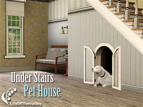 lilyofthevalleys  stairs pet house
