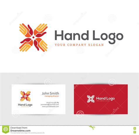 2 Person Business Card Template by Logo With Four Stock Vector Illustration Of Icon