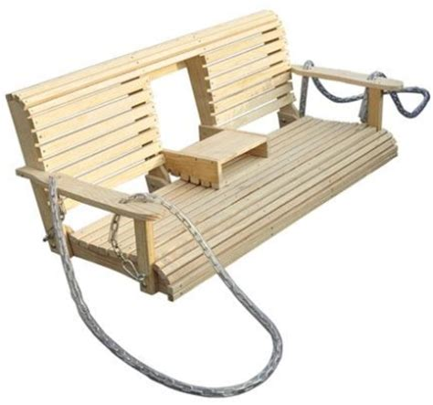Patio Swing That Folds 6 Pine Wood Outdoor Hanging Porch Swing W Fold Table