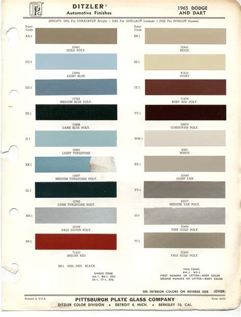 paint chips 1965 dodge