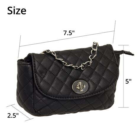 Quilted Bag With Chain by Quilted Crossbody Bag W Metal Chain Ebay