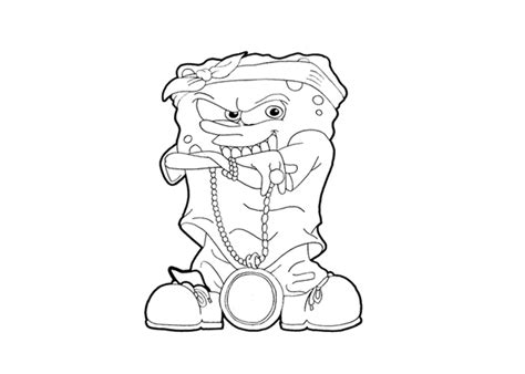 gangster mario coloring pages spongebob gangster coloring pages