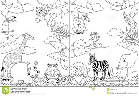 African Landscape Coloring Page | coloring african landscapes 2 royalty free stock images