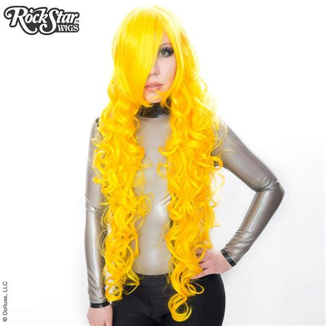 wigs usa curly 90cm 36 quot yellow 00378 dolluxe 174