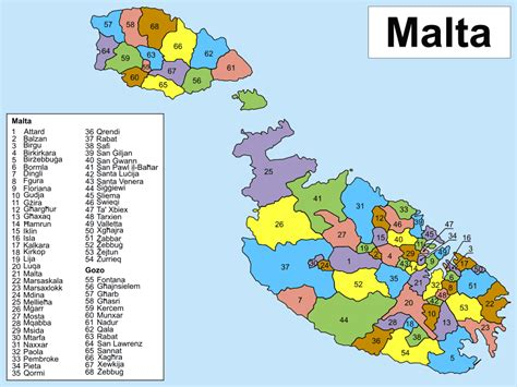 map of malta maps of malta detailed map of malta in tourist