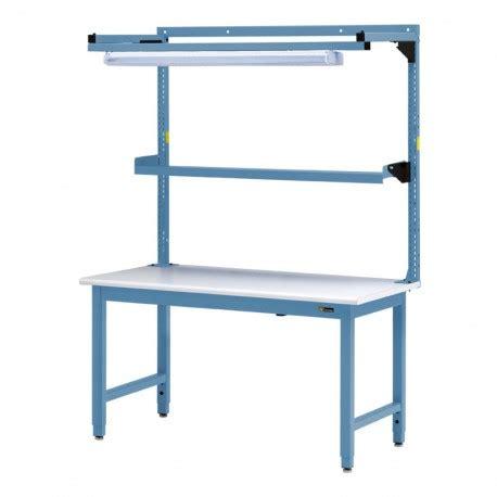 iac benches iac steel workbench w overhead light utility shelf 30
