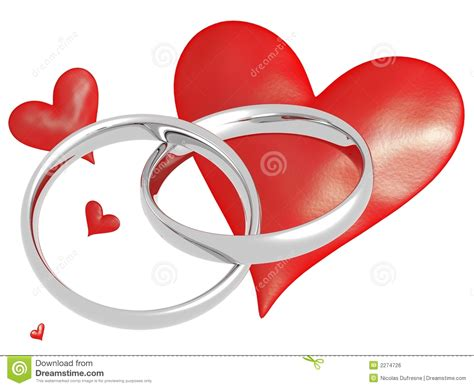 Wedding Rings With Hearts by Wedding Rings With Hearts Stock Illustration Illustration