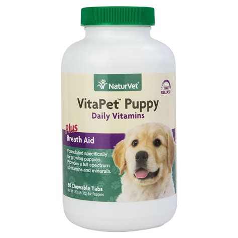 puppy plus vitapet puppy daily vitamins chewable tablets naturvet