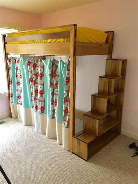 storage stairs  loft bed diy   plans