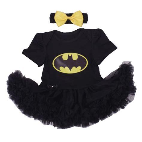 Romper Batman 1 Set batman bebe costumes for black lace romper dress headband 2pcs baby