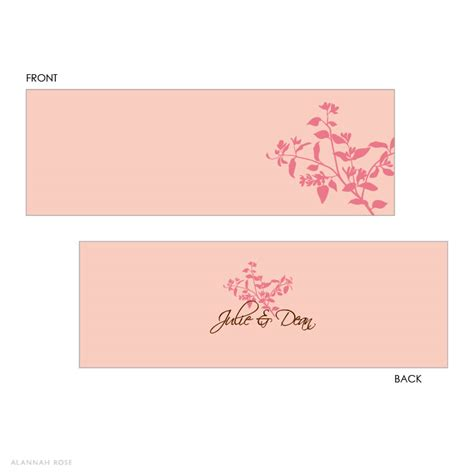 Pink Place Cards