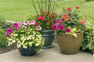 Garden Flower Pots Patio Design Outside In Homescaping Llc