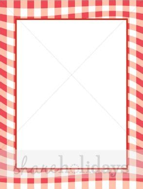 Red Gingham Border | Party Clipart & Backgrounds Bbq Border Clip Art Free