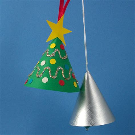 How To Make A Paper Bell - how to make a miniature tree ornament