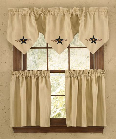 Country Star Home Decor by Star Vine Lined Triple Point Valance