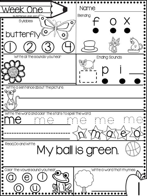 Work For Kindergarten Worksheets by 25 Best Ideas About Morning Work On