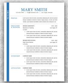 Resume Exles Modern Modern Resume Templates 42 Free Psd Word Pdf Document