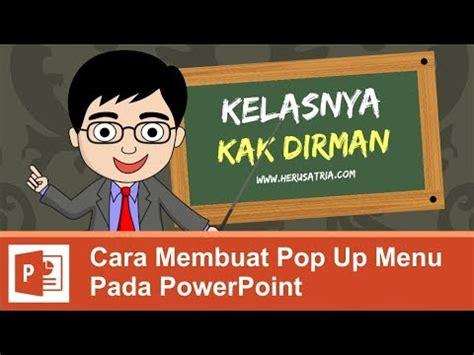membuat navigasi pada powerpoint cara membuat pop up menu pada powerpoint ppt youtube
