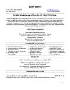Resume Format For Hr by 15 Best Human Resources Hr Resume Templates Sles Images On Resume Templates