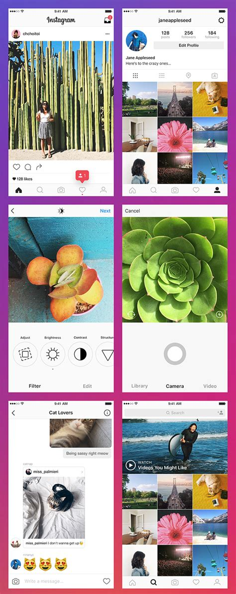 graphic design instagram app the updated instagram app free psd