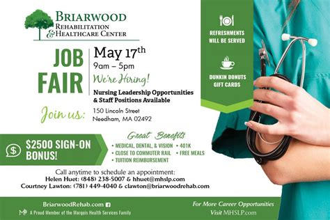 Briarwood Detox Address by We Re Hiring Fair 5 17 Briarwood Rehabilitation