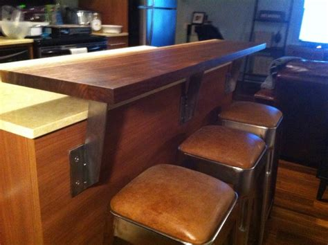 kitchen island black walnut bar extension