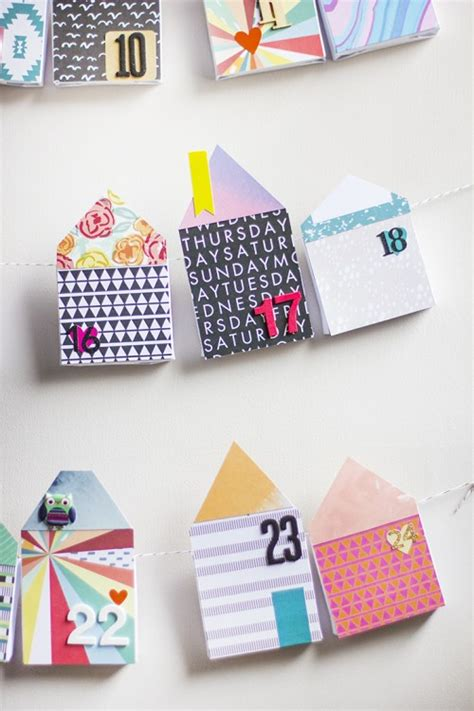 how to make a paper advent calendar diy bold paper houses advent calendar shelterness