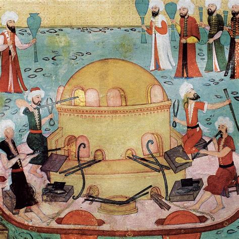 ottoman miniature painting turkish miniature painting of glassblowers at work gant