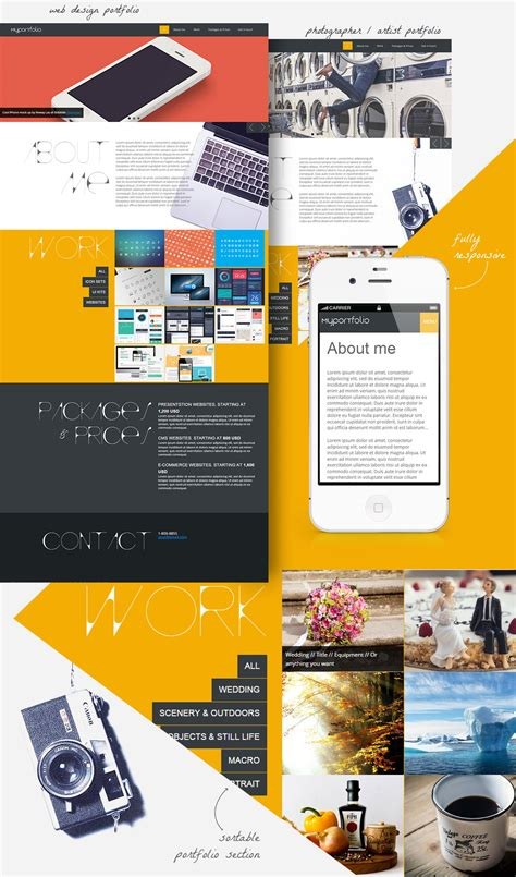 One Page Responsive Portfolio Template For Designers Portfolio Web Page Template