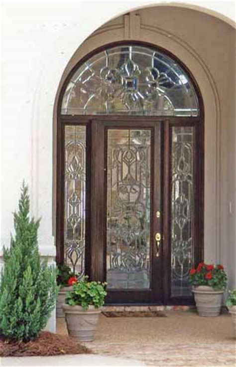 Leaded Glass Front Door Doors By Design Wood Custom Leaded Glass