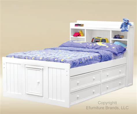 full size storage bed with bookcase headboard home biz