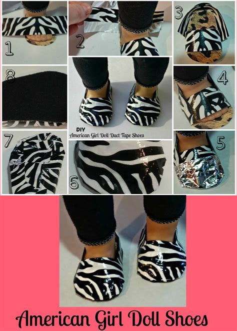 how to make american doll shoes diy duct american doll shoes thrifty nw