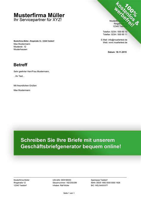 Musterrechnung Beratung Kostenlose Gesch 228 Ftsbrief Vorlagen Downloaden