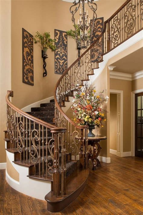 tuscan home decor ideas 1000 ideas about stairway wall decorating on